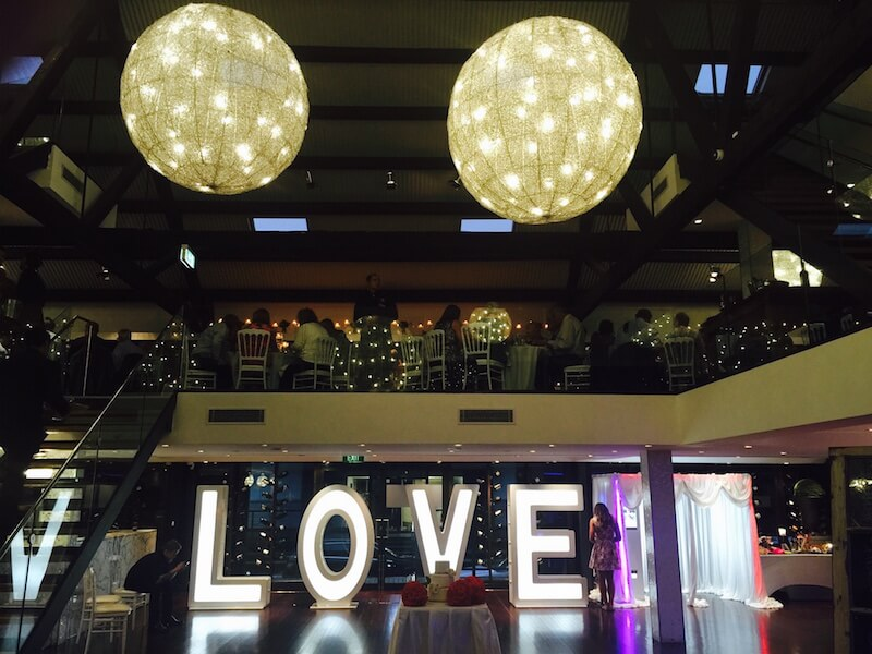 Exhibition Booth Hire Gold Coast : Gigantic led sign of love gold coast speaker hire